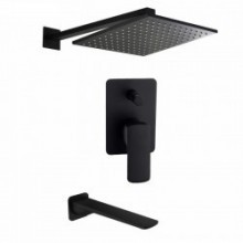 Душевой набор KorDi Black Night KD 320920 Quadro Black Matt