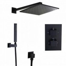 Душевой набор KorDi Black Night KD 350450 Thermo Quadro Black Matt